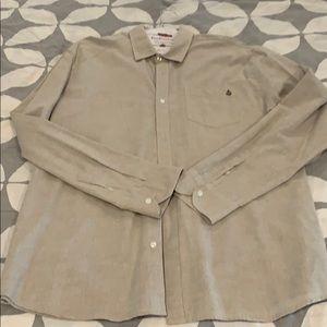 Mens Volcom long sleeve button down shirt
